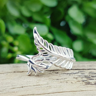 "Ring aus Sterling Silber in Blattform ""Nature"""
